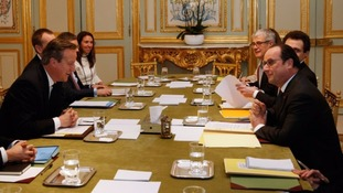 David Cameron held an overnight meeting with the French President to try to secure agreement on an EU reform deal