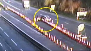 "Watch: ""careless"" driver ploughs into traffic cones causing three car pile-up"