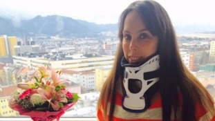 Beth Tweddle expects to leave hospital after injuring herself on The Jump