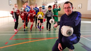Former SSI worker Andy Baker puts youngsters through their paces at one of his school holiday coaching sessions