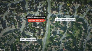 The collision happened in Wesel Avenue in Felixstowe.