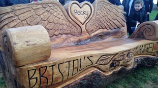 The bench has been designed to represent the teenager, who was nicknamed 'Bristol's angel'