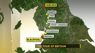 Tour of Britain moves through Cumbria