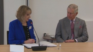Prince Charles and Amanda Skelton, chief executive Redcar and Cleveland Council