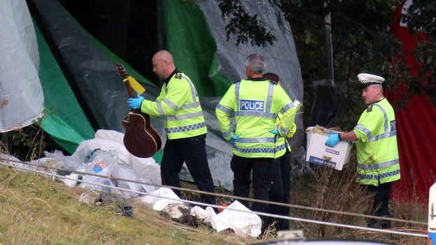 The emergency services at the scene of a coach crash on the A3 near Hindhead in Surrey