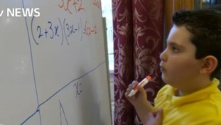 Boy genius, aged six, prepares for maths GCSE