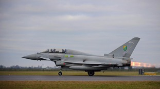 File picture of RAF Typhoon taking off from RAF Coningsby