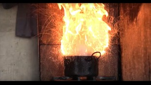 Adding water to hot oil can have fatal consequences.