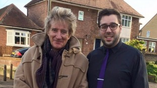 Rod Stewart with Alex Buttigieg.
