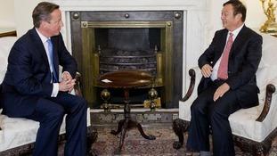 David Cameron meets Ren Zhengfei