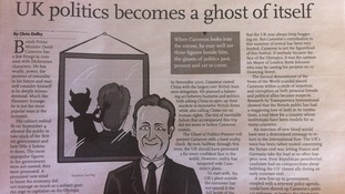 David Cameron has been attacked in a Chinese newspaper