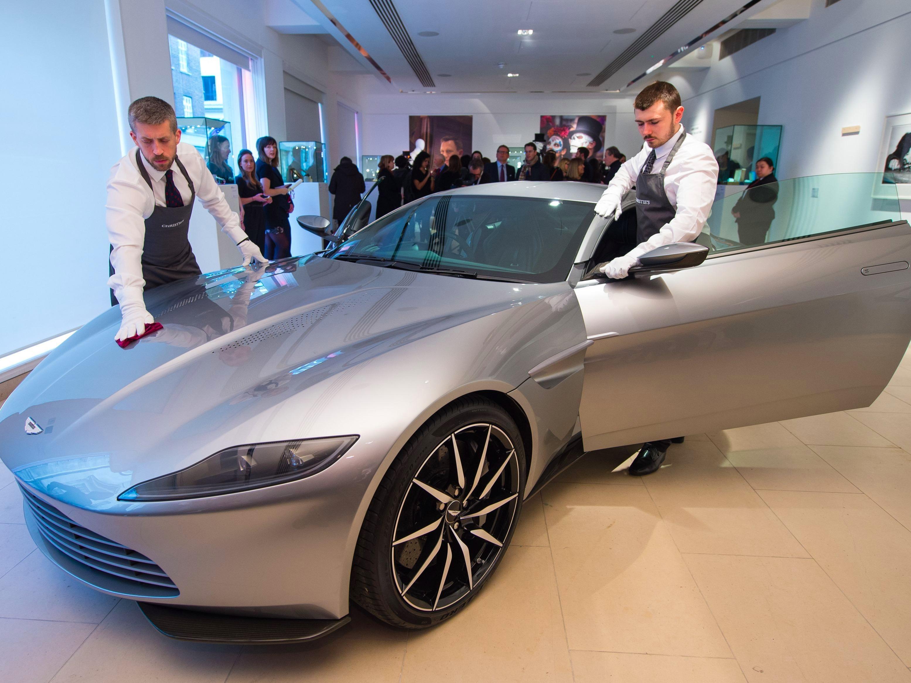 james bond 39 s aston martin sells for over 2million central itv news. Black Bedroom Furniture Sets. Home Design Ideas