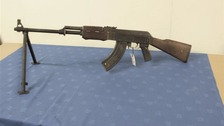 An AK47 found in Mr Arnold's home