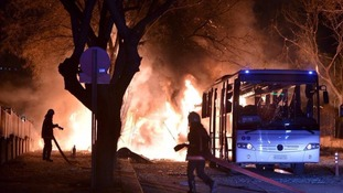 At least 28 died and another 61 were wounded in the attack on Ankara