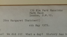 He wrote to Margeret Thatcher among others.