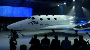 Sir Richard Branson unveils Virgin Galactic's new spaceship