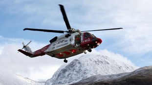 A Coastguard Search and Rescue helicopter