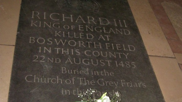 Memorial stone for King Richard III