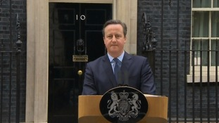 David Cameron speaks outside Number 10.