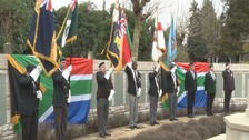 Flags raised in tribute