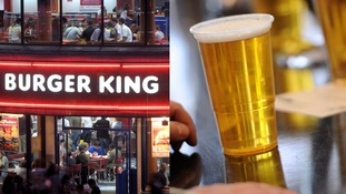 Burger King refused beer sale licence at train stations.