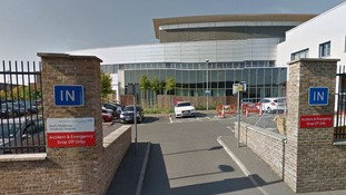 Patients at a stretched hospital A&E told to go home.