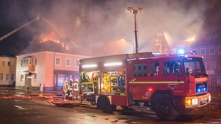 A planned refugee home in Bautzen caught fire during the night