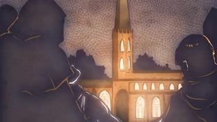 Emma Vieceli's artistic visual representation of the search for Richard III