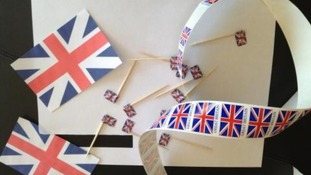 Posh's patriotic decorations
