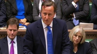 David Cameron delivers a statement in the House of Commons on the Hillsborough report
