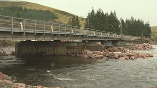 Storm Frank left Lamington Viaduct in Dumfries and Galloway close to collapse on New Year's Eve.