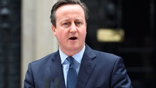 Prime Minister David Cameron makes a statement announcing the date of the EU referendum outside 10 Downing Street