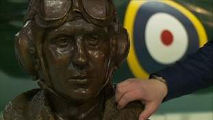 A bronze bust of him was unveiled at the Fleet Air Arm Museum in Somerset last year.