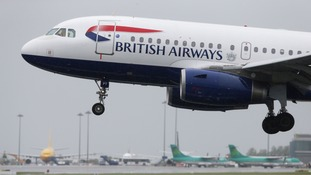 Police said the plane was not put in danger during the incident on Monday evening.