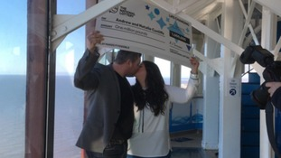 Blackpool couple celebrate £1m scratchcard win