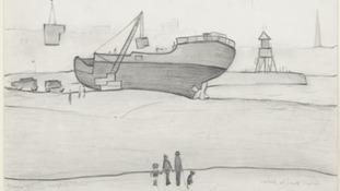 Lowry sketch 'Wreck at South Shields'.