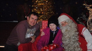 The charity helped Hannah meet Father Christmas