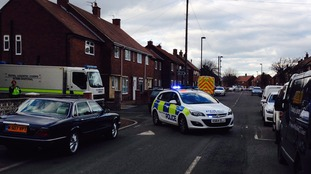 A house on Morwick Road has been cordoned off.