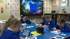 The Tardis is being used to teach children at a primary school in Norfolk