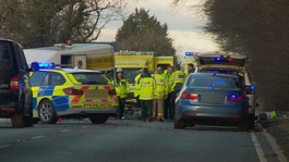 Two women dead and three injured in two-car crash near Carlisle