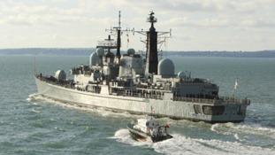 HMS York comes home