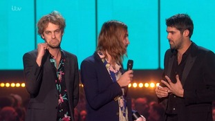 Tame Impala accept their award for Best International Band.