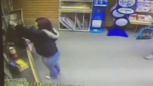 CCTV footage shows women stealing charity tin