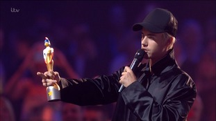 Justin Bieber won Best Breakthrough Act at the Brits in 2011.