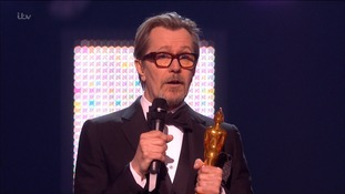 Gary Oldman said his Bowie handled himself with dignity until the end.