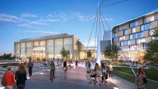 Artist's impression of The Mall plans