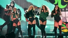 Little Mix take to the stage at the BRIT Awards
