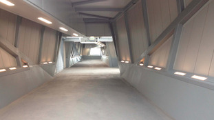Inside of railway bridge