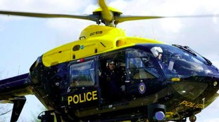 A police helicopter was dispatched