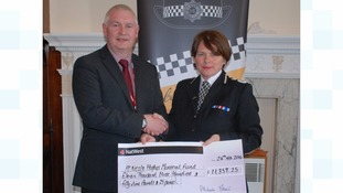 Bryn Hughes and Temporary Chief Constable Michelle Skeer.